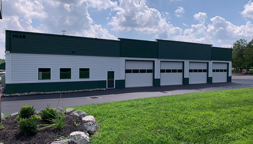 Newly completed Creamery Tire building