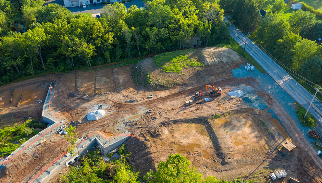 Townhome development under construction