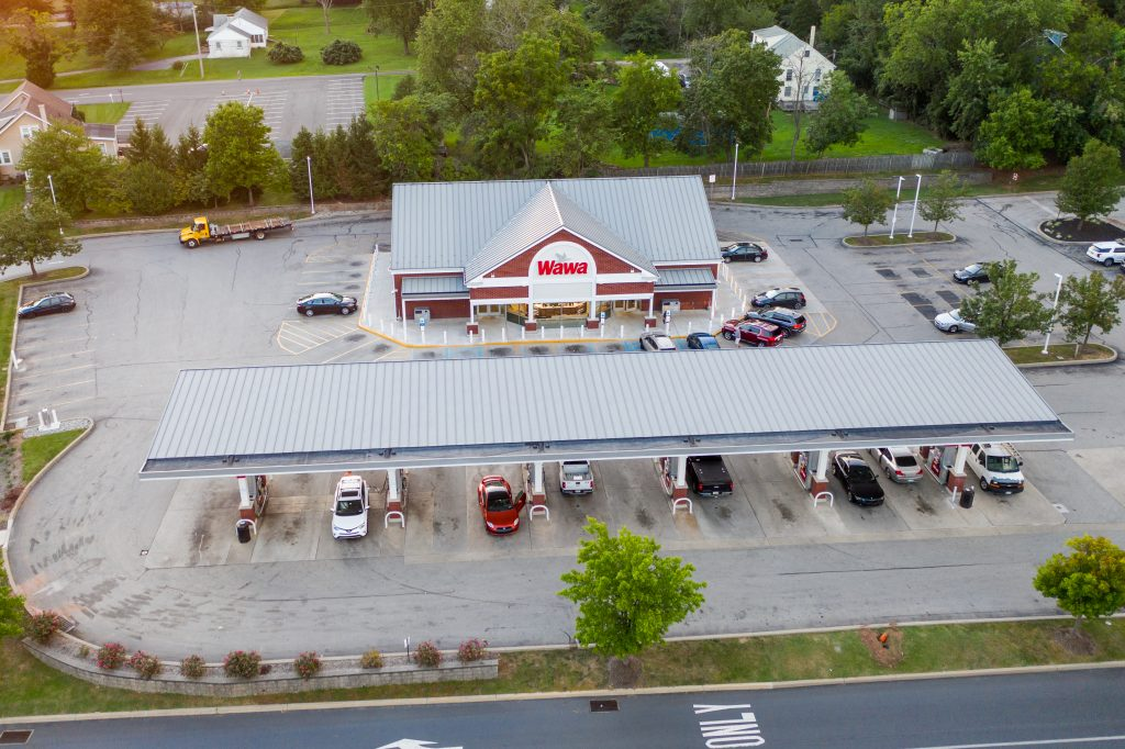 Wawa Store with gas pumps