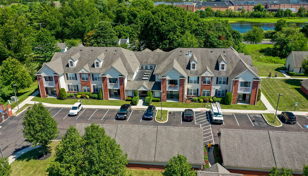 Lakeview Park Luxury Apartments aerial view