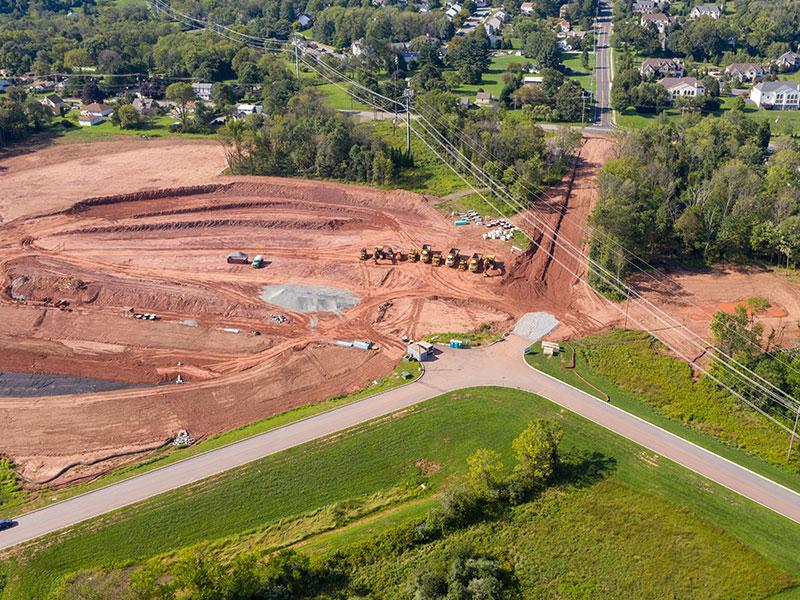 Land development at Linfield Corporate Center